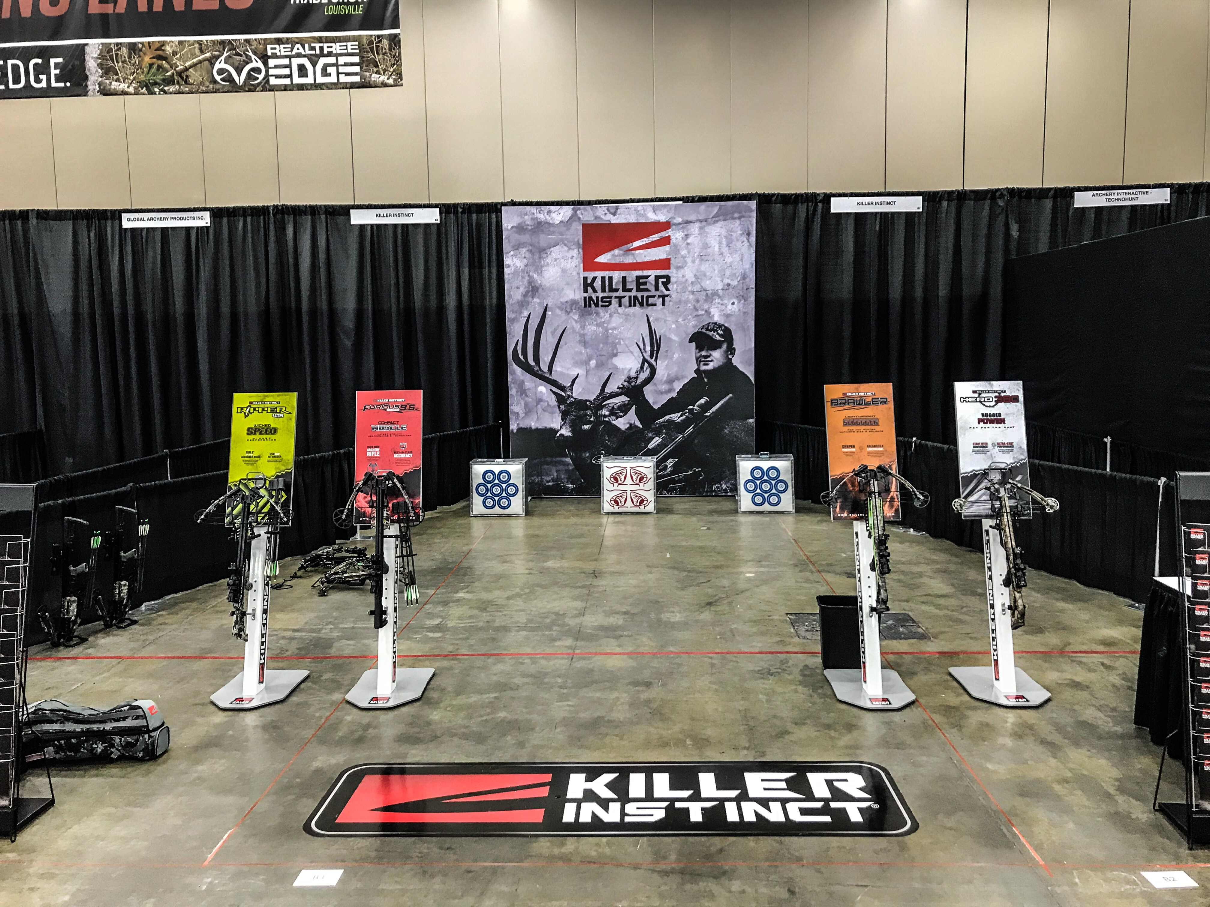 Killer Instinct ATA Shooting lanes where dealers tried out the new crossbows.